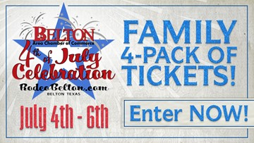 Enter today for your chance to win tickets to the Belton 4th of July PRCA Rodeo!