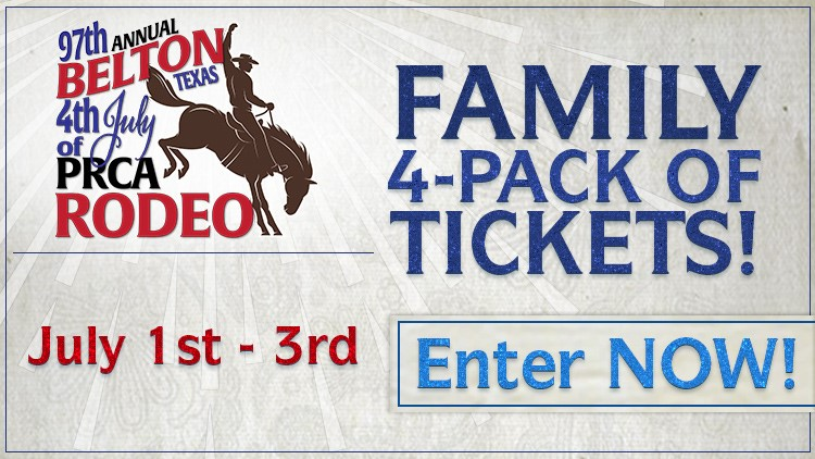 Enter to win tickets to the 2021 Belton 4th of July Rodeo