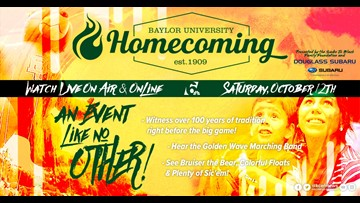 Bands, balloons and floats! It's the 110th Baylor University Homecoming parade