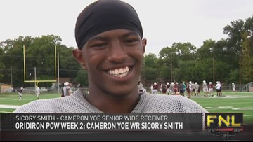 Gridiron Player of the Week: Sicory Smith (Cameron Yoe)