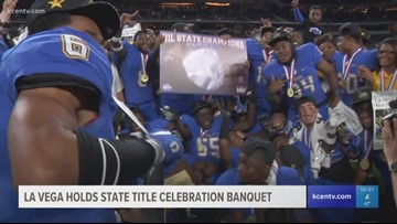 La Vega Football holds state title celebration banquet