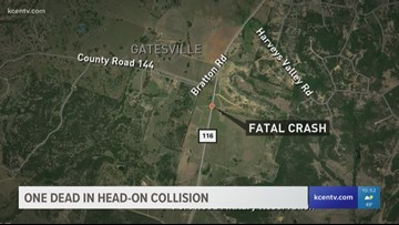 1 killed in head-on collision in Coryell County