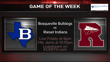 Bosqueville meets Riesel in the Week 7 Game of the Week