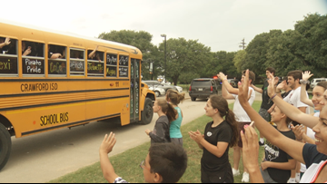 Fans send Crawford softball team off to state tournament
