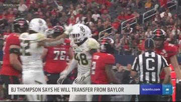 BJ Thompson says he will transfer from Baylor