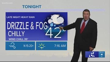 Andy's 10 p.m. forecast: Late night heavy rain