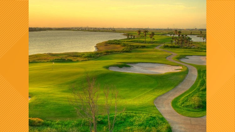 Golf course at Moody Gardens Galveston Island