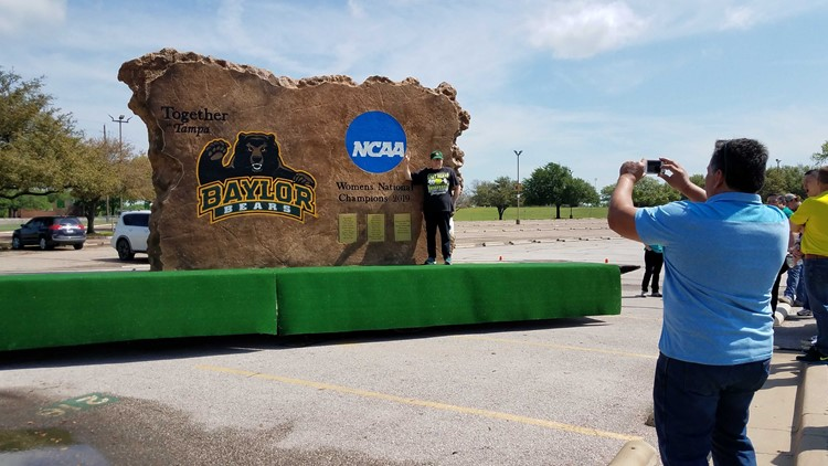 Boulder dedicated to Lady Bears championship