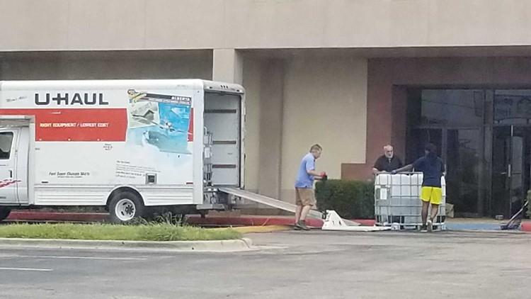 Aquarium equipment taken away