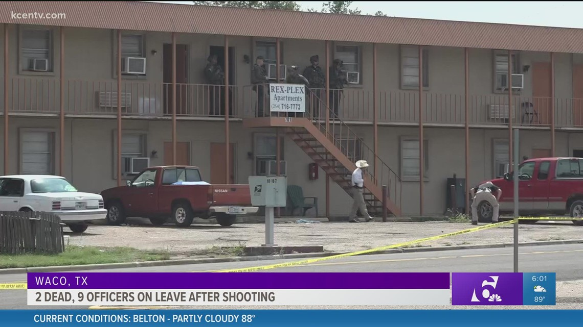 2 dead, 9 Waco officers on leave after shooting at apartment complex