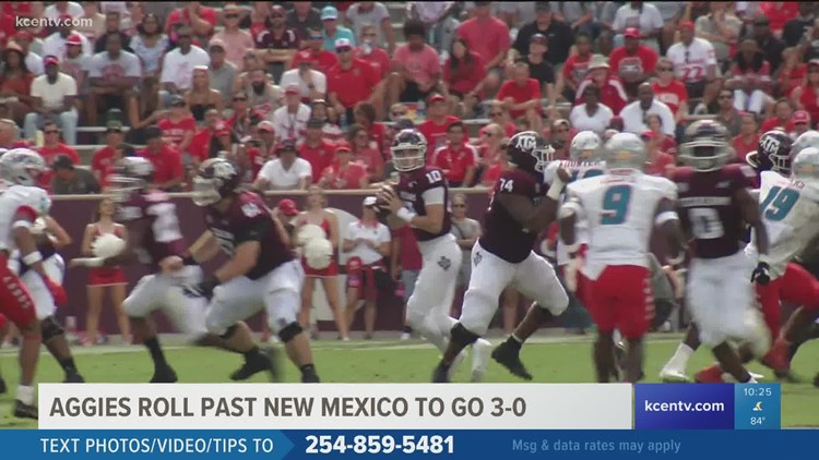 Aggies go 3-0, extend winning streak to 11 games with victory over New Mexico