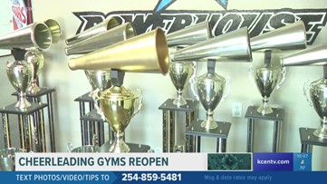 Cheerleading gyms reopening
