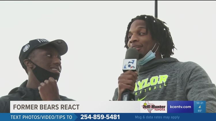 Former Bears Freddie Gillespie and Devontee Bandoo react to Baylor win