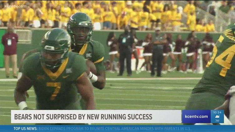 Baylor Bears not surprised by new running success