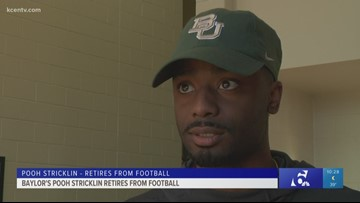 Baylor's Pooh Stricklin retires from football