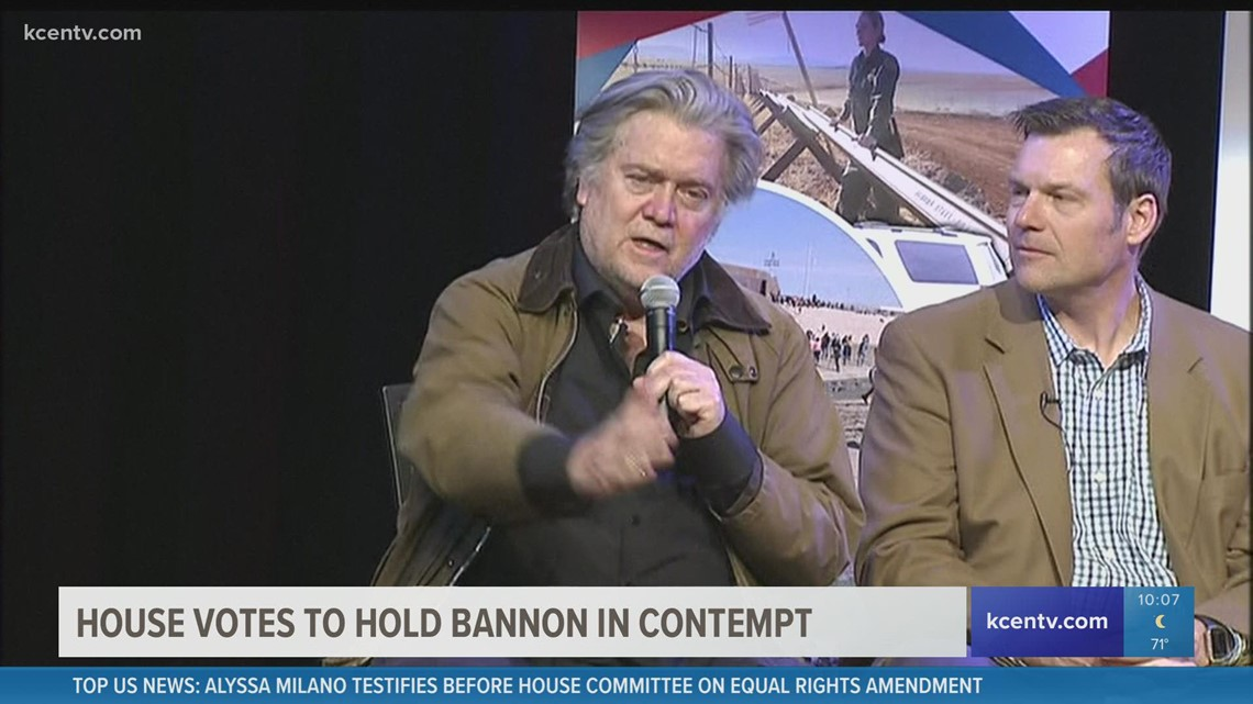 House Votes to Hold Bannon in Contempt