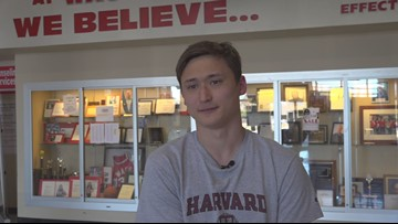Waco High School senior takes a dive for Ivy League school