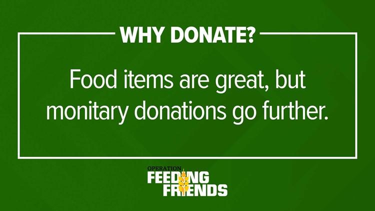 Monetary donations help too