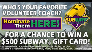 Nominate Your Subway Standout Coach