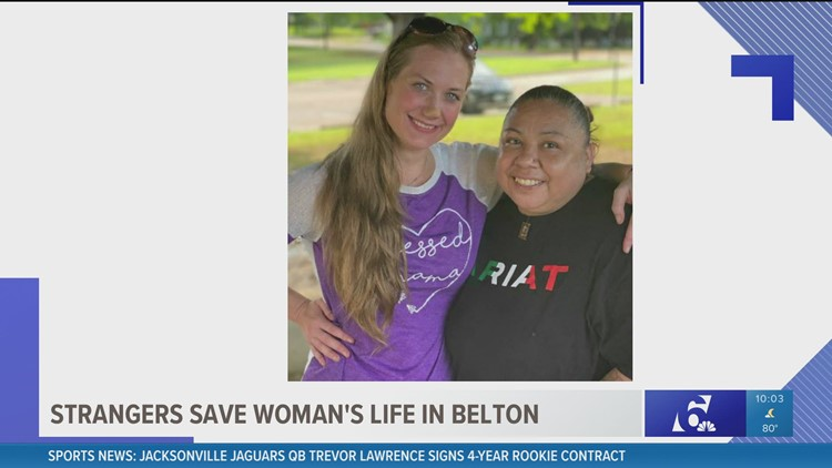 'I died and they saved me': Woman finds, thanks 'angel' who saved her life in Belton