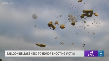 Balloon release held to honor teen killed in Walmart shooting