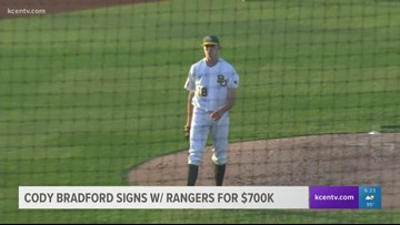 Former Baylor baseball pitcher Cody Bradford signs with Texas Rangers