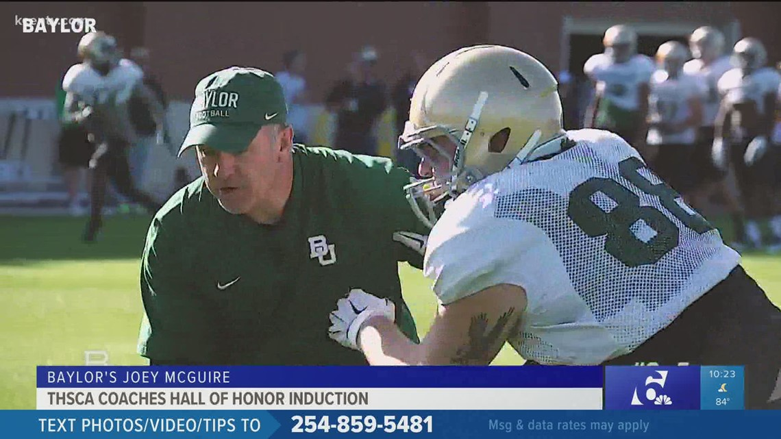 Baylor football associate head coach inducted to Texas HS Coaches Association Hall of Honor