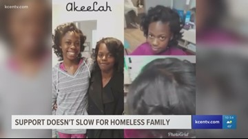 Support for homeless Killeen family continues