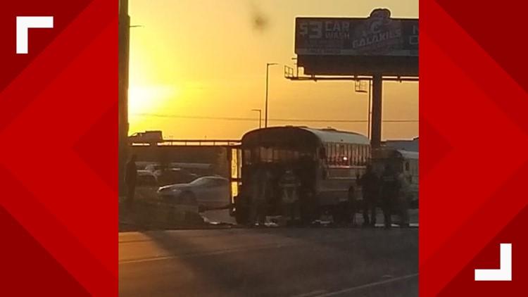KISD school bus catches fire