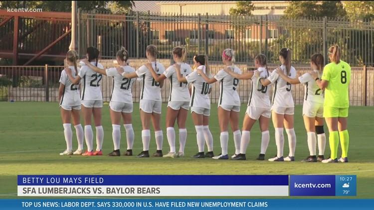Baylor women's soccer plays against SFA Lumberjacks