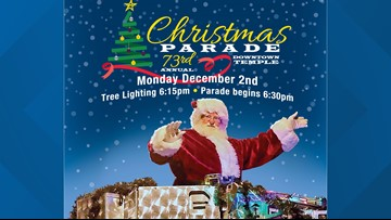 73rd annual Temple Christmas Parade kicks off the holidays