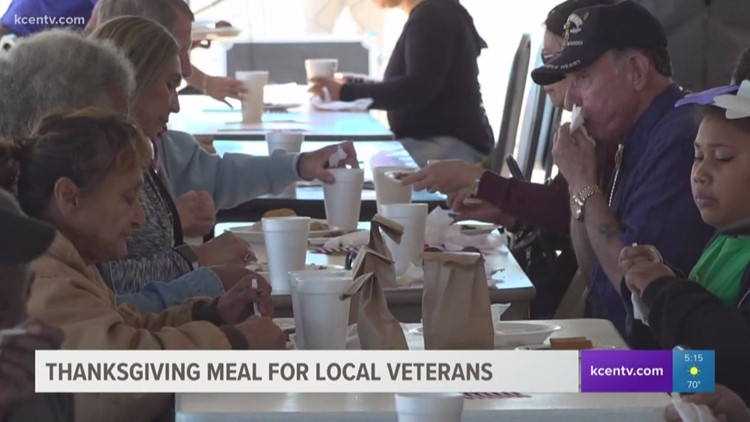 Thanksgiving feast served to veterans, their families