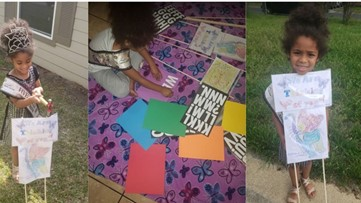 Killeen girl makes signs for nursing home residents during shelter in place order