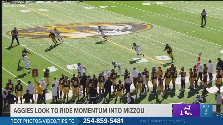 Aggies look to ride momentum into Mizzou