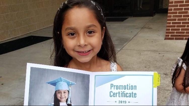 Melissa Garcia's daughter, 6