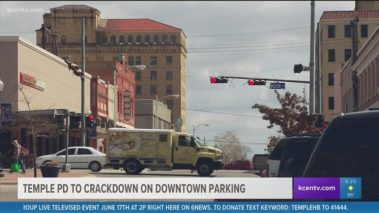 Temple PD to crackdown on Downtown parking