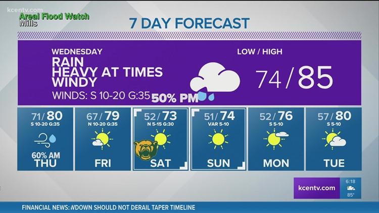Rain likely Wednesday   Central Texas Forecast