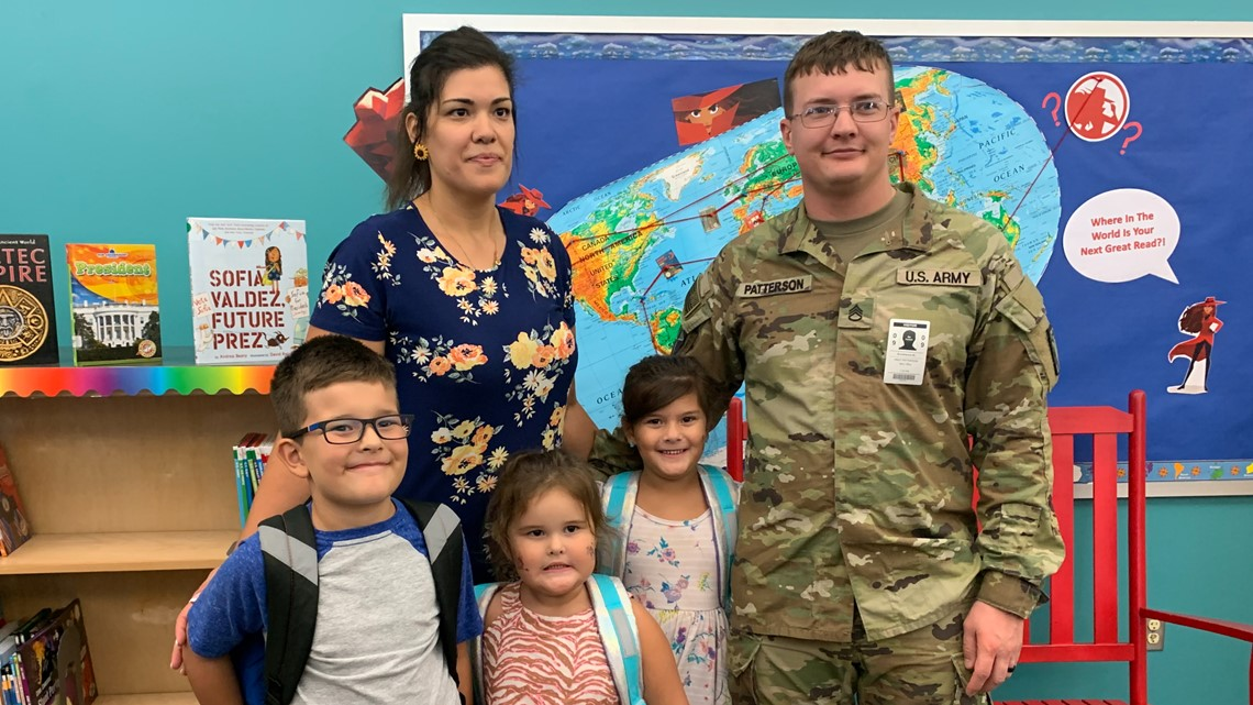 Soldier returning from yearlong deployment surprises kids at Killeen school