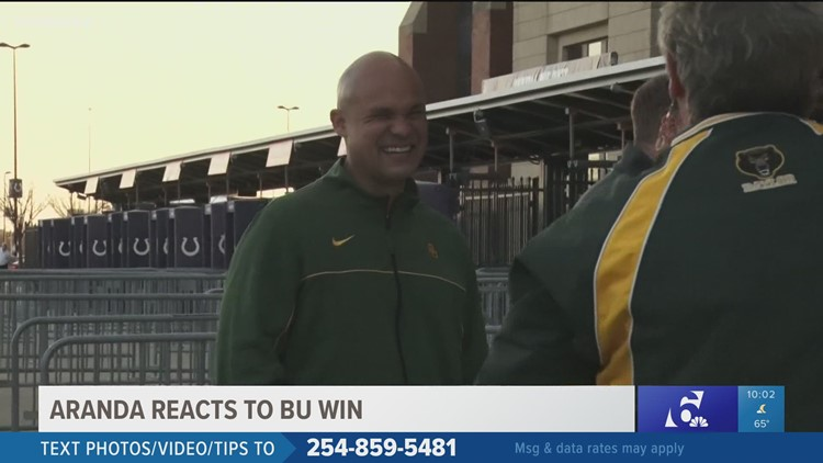 Baylor Head Football Coach Dave Aranda among fans made trek to Indianapolis