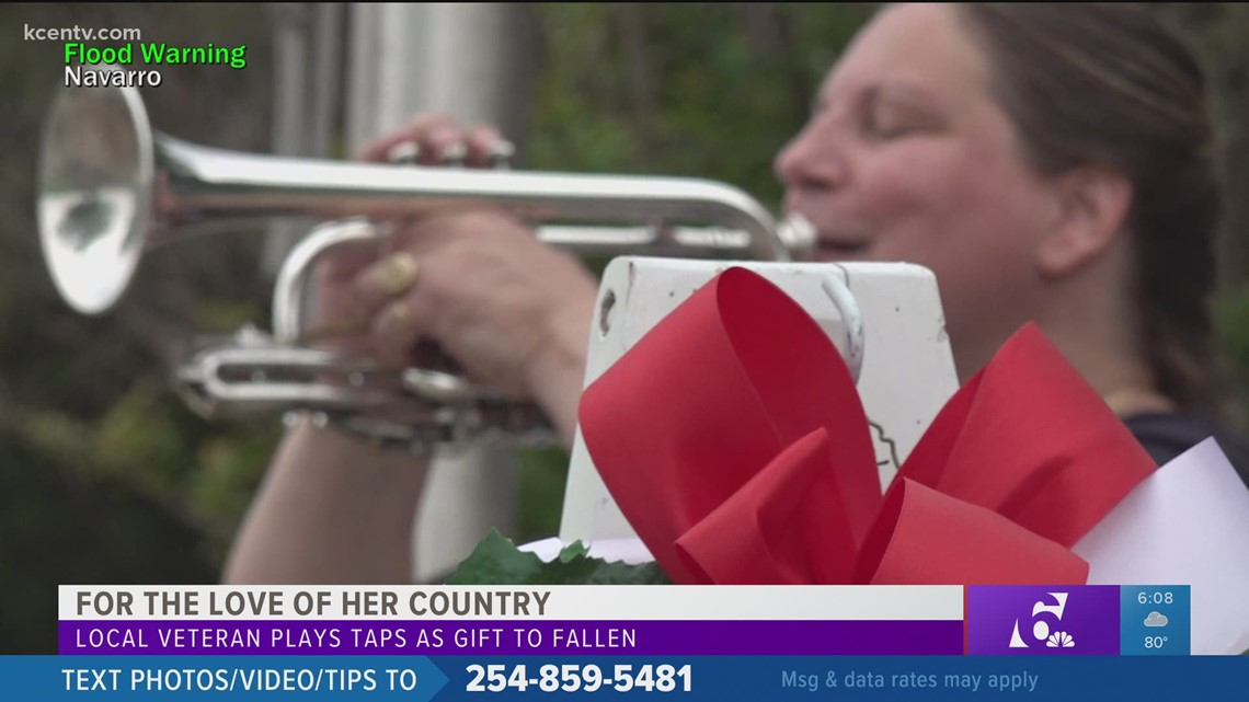 Central Texas veteran honors the fallen by playing Taps