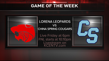 Friday Night Lights| China Spring Cougars defeat Lorena Leopards 42-21 in week 1