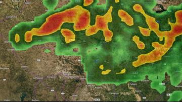 Heavy rain, pounding thunder rolls through Central Texas