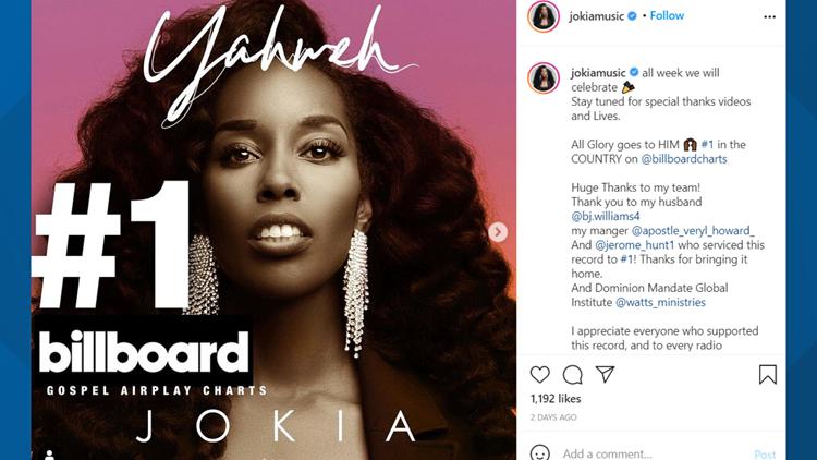 Killeen gospel singer has No. 1 song on Billboard chart