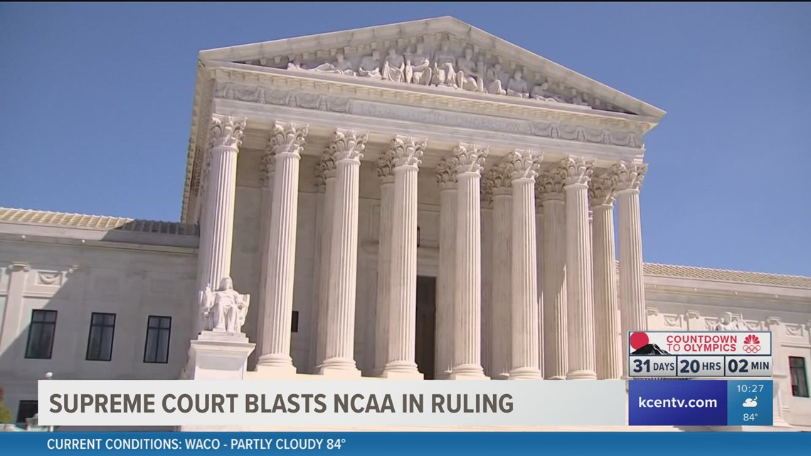 Supreme Court rules in favor of college athlete compensation