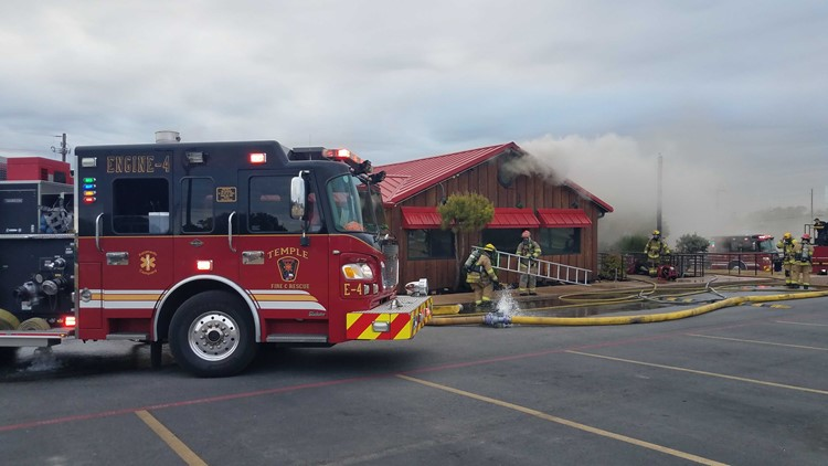Fire at Cactus Jack's in Temple