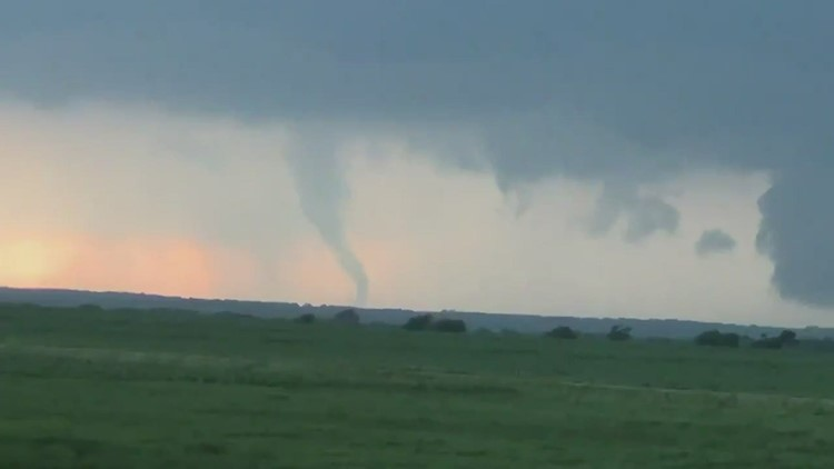 WATCH: Viewer captures apparent tornado in Blum