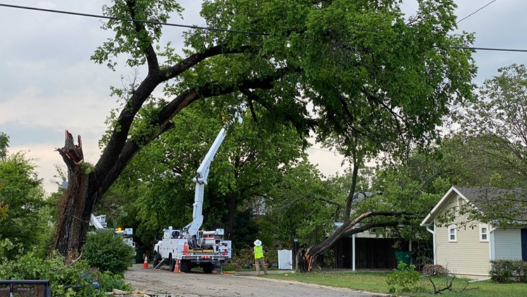 McGregor sees storm damage, power outages Friday night