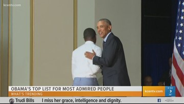 What's Trending: Obama's top list for most admired people