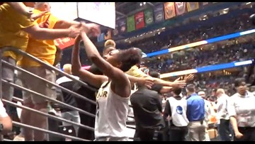 A block after Lady Bears' Final Four win over Oregon