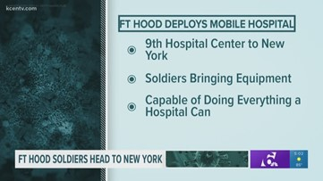 Fort Hood deploys mobile hospital to New York to aid with coronavirus patients